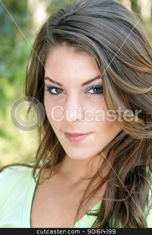 Beautiful Young Brunette, Outdoor Headshot (5)