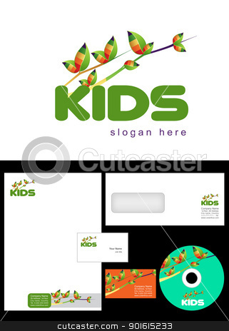 Kids Club, Area stock vector clipart, Kids Club, Area, Team, Section Logo Design and corporate identity package including logo, letterhead, business card, envelope and cd label. by Nabeel Zytoon