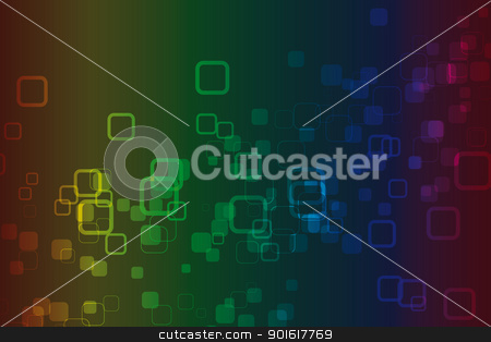 Color Spectrum Abstract Background  stock vector clipart, Color Spectrum Abstract Background – color squares by kurkalukas