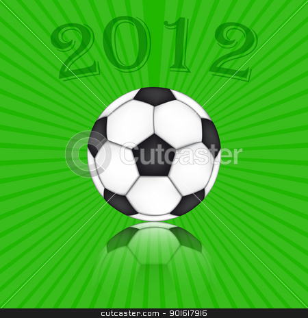 Soccer Ball Euro 2012 stock vector clipart, Soccer Ball Euro 2012 - Background Vector by kurkalukas