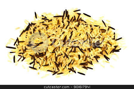 yellow and black rice blend stock photo, yellow and black rice blend isolated on white by Petr Malyshev