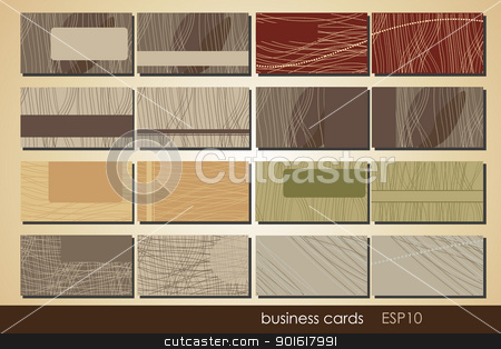 cards  stock vector clipart, double-sided business cards with place for text by Miroslava Hlavacova