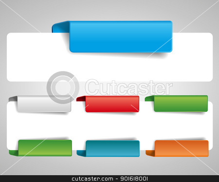 bookmark stock vector clipart, blank tab for the web by Miroslava Hlavacova