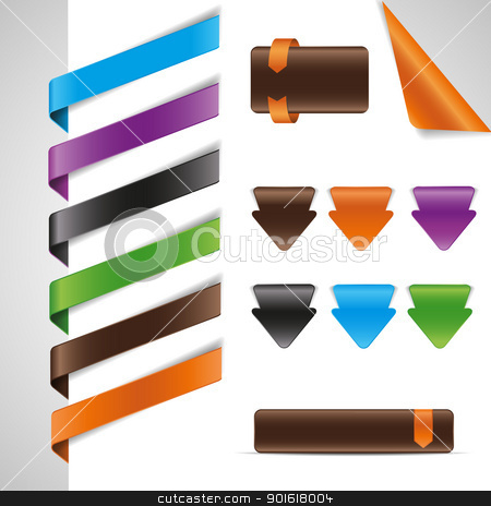 tags stock vector clipart, set tags, labels,web design elements  by Miroslava Hlavacova