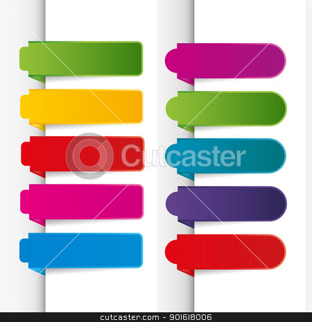 Bookmarks stock vector clipart, Bookmarks collection isolated on white background by Miroslava Hlavacova