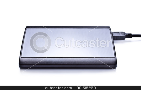 external hdd stock photo, external hdd isolated on white background by Petr Malyshev