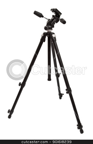 camera tripod  stock photo, camera tripod isolated on white background by Petr Malyshev