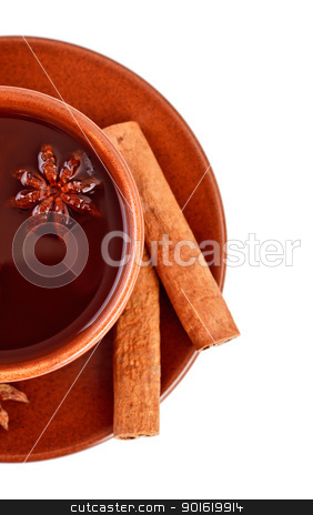 tea with cinnamon sticks and star anise