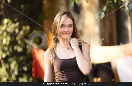 Beautiful Girl stock photo, beautiful blond girl portrait at summer day by Petr Malyshev