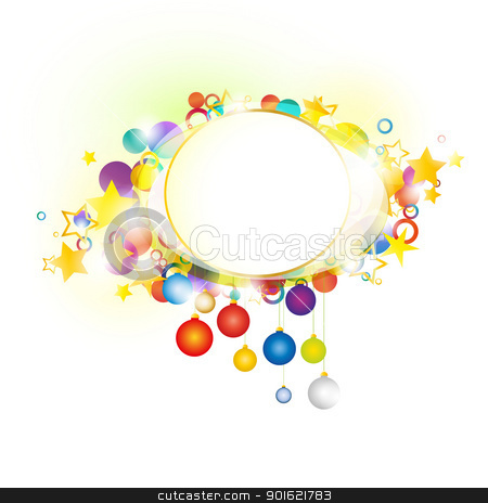 New Year stock vector clipart, Colorful background with the topic of Christmas and New Year by Miroslava Hlavacova