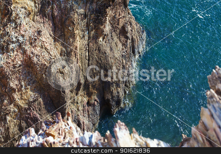 Rocky Shore stock photo, rocks along the beach, Andaman Sea, Thailand by Petr Malyshev