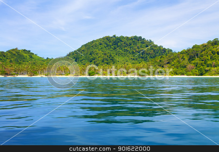 Andaman Shore stock photo, tropical beach, Andaman Sea Shore in Thailand by Petr Malyshev