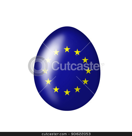 European egg stock photo, Easter Egg with Euro flag on a white background by Viktor Thaut