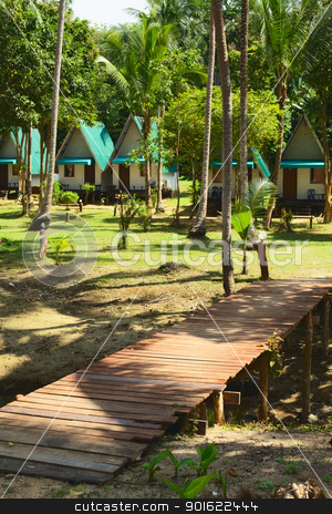 Tropical Resort stock photo, bungalow resort in jungle, Andaman Shore, Thailand by Petr Malyshev