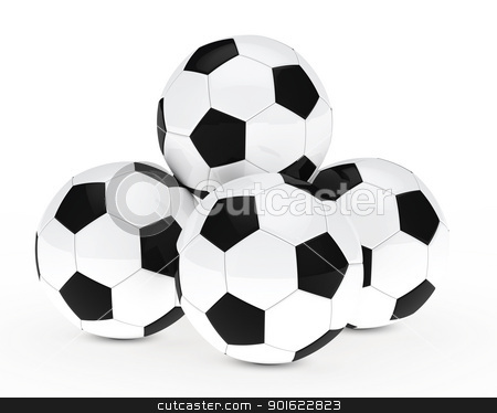 many footballs stock photo, many soccer footballs be each other balls by d3images
