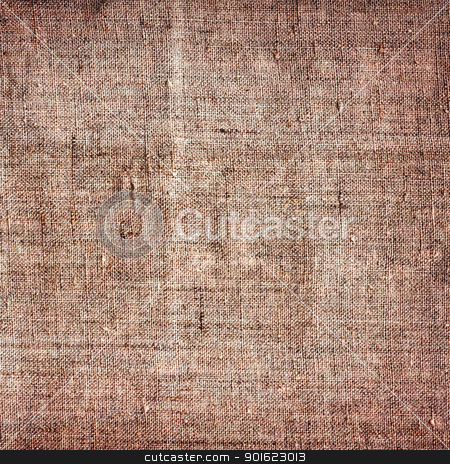 Old Canvas Background stock photo, old brown canvas grunge texture as background by Petr Malyshev