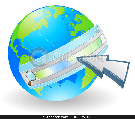 Internet web search concept stock vector clipart, Web concept. Conceptual illustration for searching the internet.
