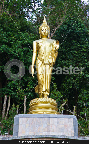 Buddha statue in Thailand stock photo, Buddha statue in Thailand by narathorn