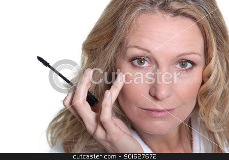 woman with mascara stock photo, woman with mascara by photography33