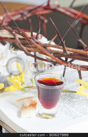 Taking Communion stock photo, Taking Communion by manaemedia