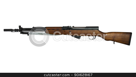 yugoslavian military rifle stock photo, vintage military semi-auto rifle with clipping path at original size by digitalreflections