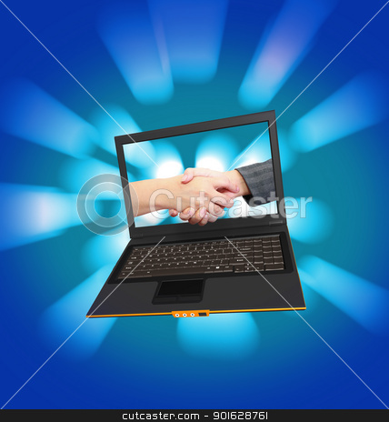 business laptop  stock photo, business laptop  by dacasdo