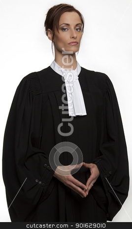 Canadian lawyer stock photo, Canadian attorney in full attire by Yann Poirier