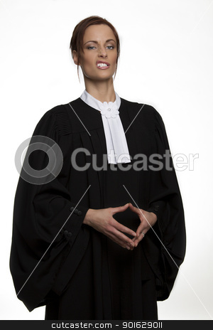 The face of the law stock photo, Canadian attorney in full attire making a face by Yann Poirier