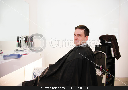 after hair cut stock photo, modern hairdressing salon for hair cut by Viktor Thaut