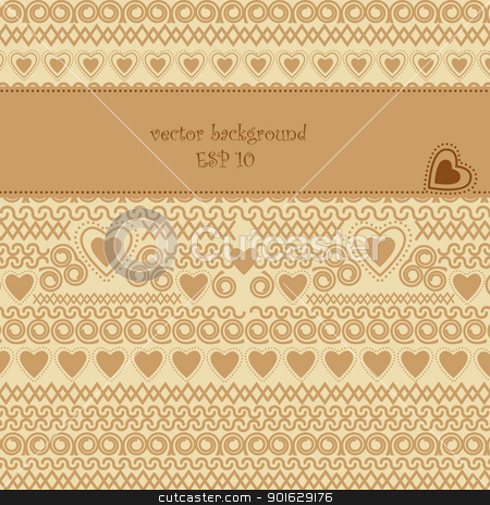 decoration stock vector clipart, background with space for text decoration by Miroslava Hlavacova