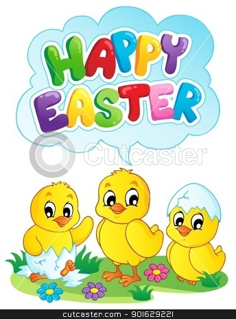 Happy Easter sign theme image 5 stock vector clipart, Happy Easter sign theme image 5 - vector illustration. by Klara Viskova