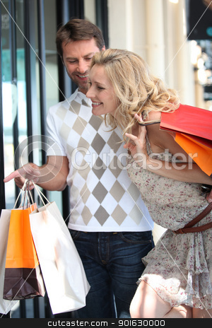 Couple go on a shopping spree stock photo, Couple go on a shopping spree by photography33