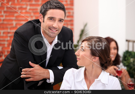 Couple in restaurant stock photo, Couple in restaurant by photography33