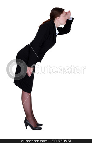 Businesswoman looking for something stock photo, Businesswoman looking for something by photography33