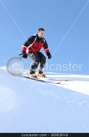 Man skiing stock photo, Man skiing by photography33