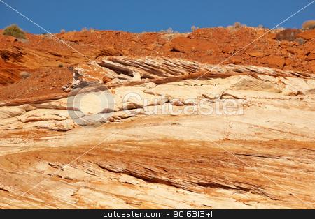 Glen Canyon Orange Sandstone Walls Arizona stock photo, Glen Canyon Orange Sandstone Walls Canyon Arizona by William Perry