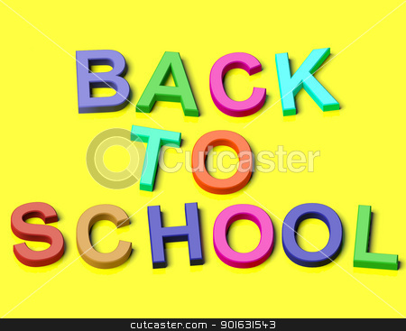 Colored Kids Letters Spelling Back To School As Symbol For Educa stock photo, Colored Kids Plastic Letters Spelling Back To School As Symbol For Education And Learning by stuartmiles