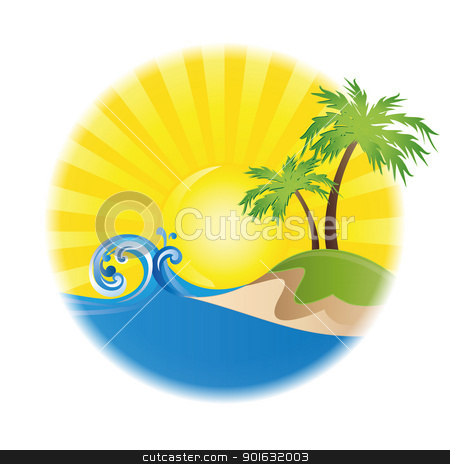 labels stock vector clipart, summer vector logo on white background isolated by Miroslava Hlavacova