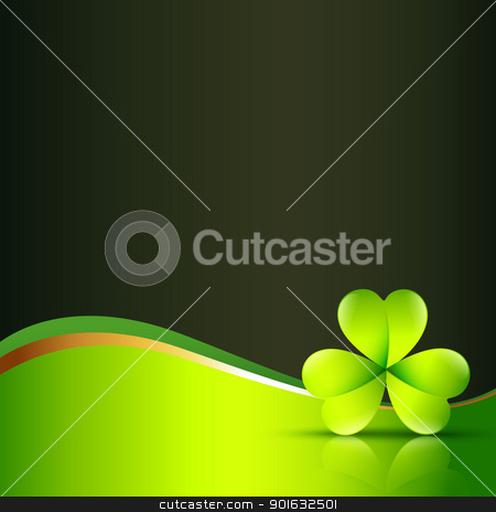 vector clover leaf stock vector clipart, vector clover leaf with space for your text by pinnacleanimates