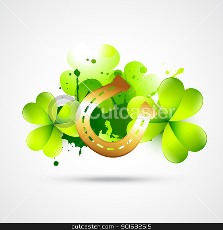 saint patricks day illustration stock vector clipart, vector st patrick's day design illustration by pinnacleanimates