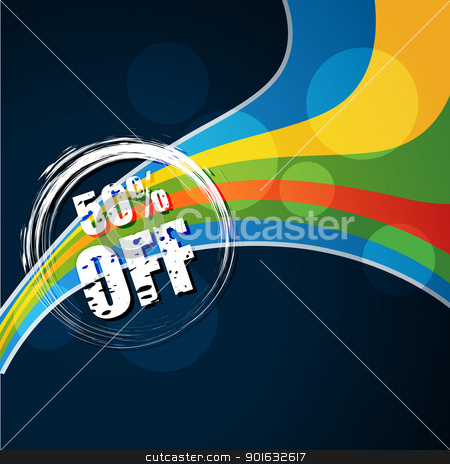 label background stock vector clipart, vector discount label on blue ...