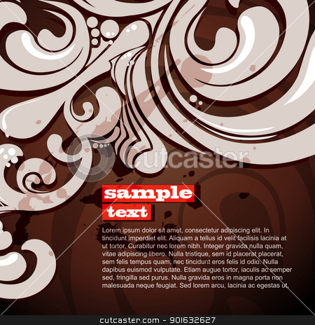 vector floral background stock vector clipart, vector abstract floral background design by pinnacleanimates