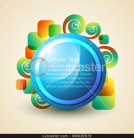 shiny abstract illustration stock vector clipart, stylish shiny abstract circle illustration by pinnacleanimates
