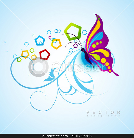 artistic butterfly background stock vector clipart, artistic butterfly vector design background by pinnacleanimates