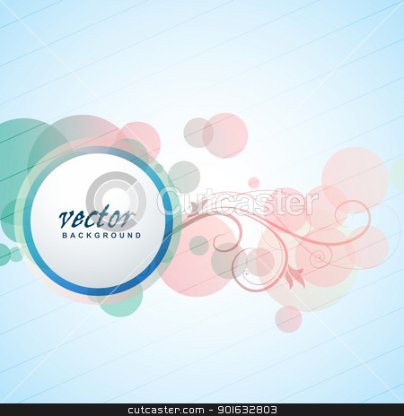 stylish vector design stock vector clipart, stylish vector design with space for your text by pinnacleanimates