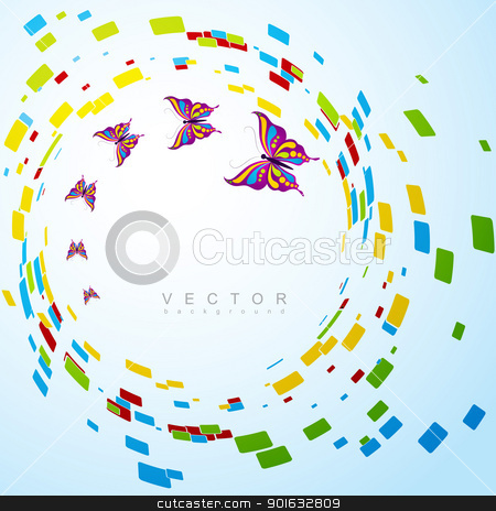 butterfly background stock vector clipart, beautiful creative butterfly background with space for your text by pinnacleanimates