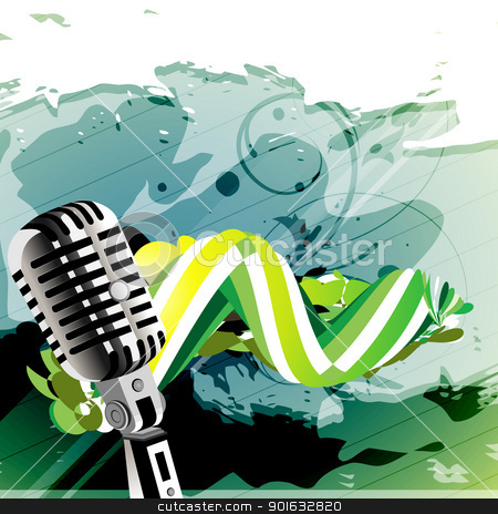 abstract vector mic stock vector clipart, abstract style mic vector art by pinnacleanimates