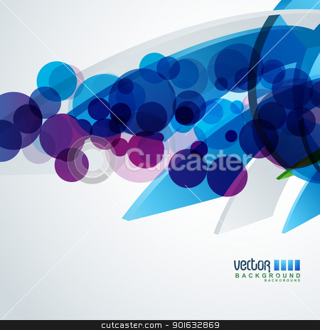 vector background stock vector clipart, vector blue color eps10 background design by pinnacleanimates