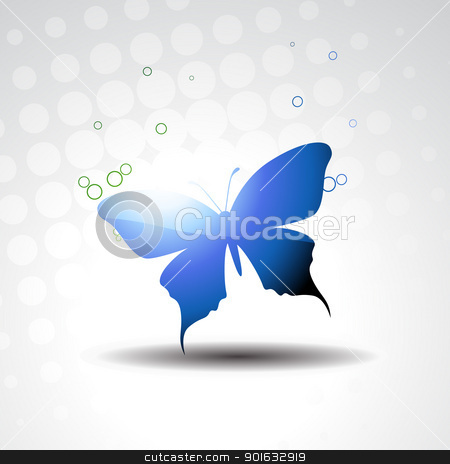 vector beautiful butterfly stock vector clipart, vector beautiful butterfly with circles around it by pinnacleanimates