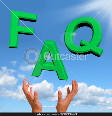 FAQ Letters Falling Showing Information Questions And Answers stock photo, Catching FAQ Letters Showing Information Questions And Answers by stuartmiles